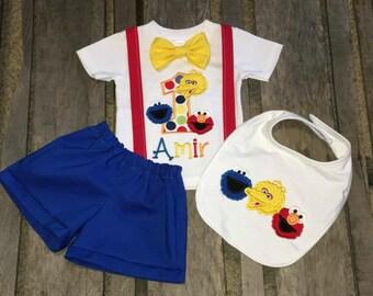 Boys 1st Birthday Outfit Sesame Street