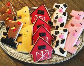 Barnyard Cookies ~ Custom Sugar Cookies ~ Kids Birthday Party ~ Boy or Girl