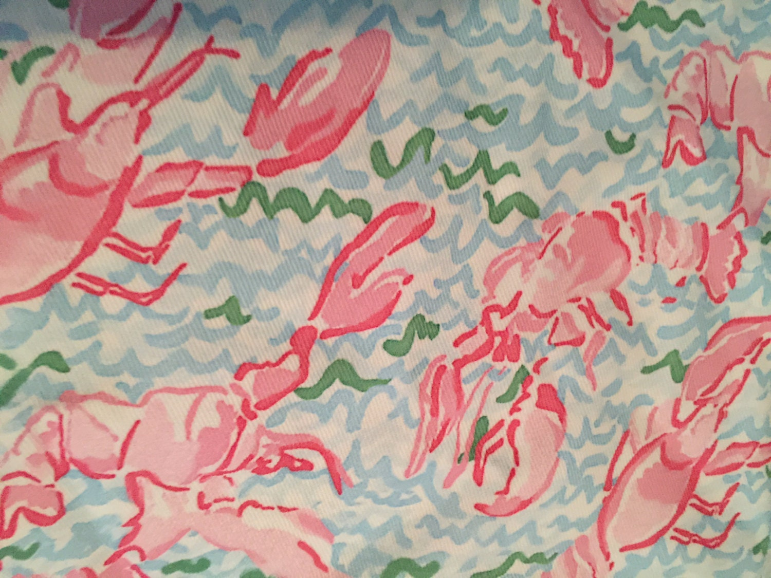 LILLY PULITZER Lobstah Roll Inspired 1 Yard of Lilly Fabric