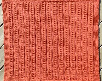Hand Knit Baby Blanket Bumpy Road Rose Car Seat Stroller Blanket Knitted Blanket
