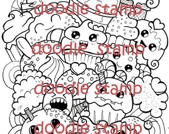 Cupcakes - Digital Doodle Stamp