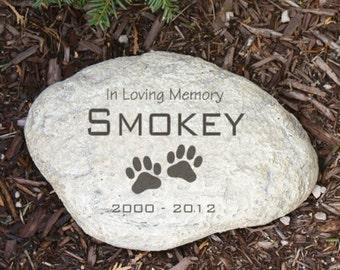 Personalized Pet Sympathy Garden Stone