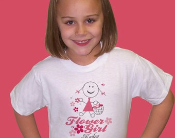 Personalized Flower Girl Personalized Youth T-shirt