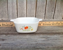 Cornflower Blue & Wildflowers, all P-43-B, Corning Ware  Capacity of each  is 2 3/4 cup - Casserole, Vintage and Made in USA -  5 available