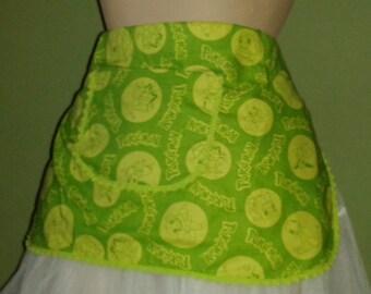 green pokemon pin-up retro pinny apron