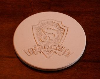 Custom Sandstone Coasters, Round Coaster Set Monogrammed (m30coast)