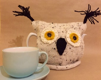 Owl Tea Cosy - Owl Gift - Owl tea Cozy Tea Lovers Gift - Home Decor Rustic Decor