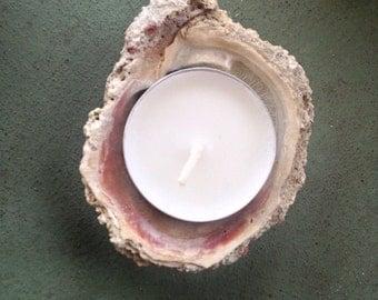 Mermaid candle holder sea shell