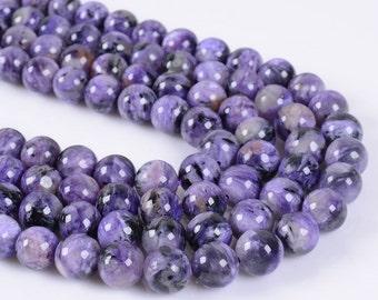 """8MM133 8mm Charoite round ball loose gemstone beads 16"""""""
