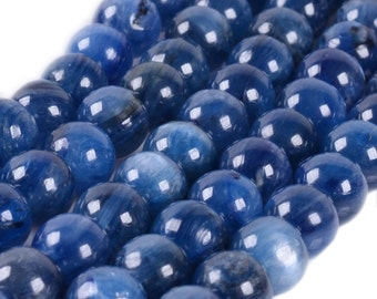 "6MM220 6mm A grade blue kyanite round ball loose gemstone beads 16"""
