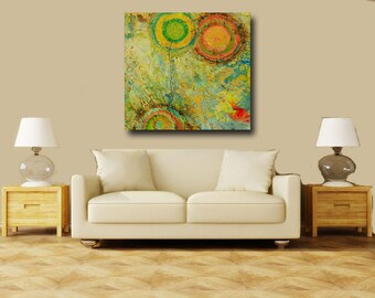 Abstract acrylic painting modern original fine art Titled..Cosmos 1.size.36x36- By Ava Avadon