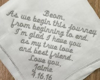 Husband Wedding Handkerchief