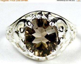 Summer Sale, 30% Off, SR004, Smoky Quartz, 925 Sterling Silver Ring