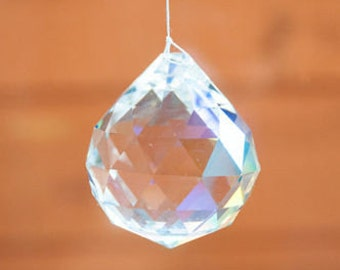 Crystal Ball Prism Faceted Austria Suncatcher  20mm