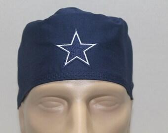 Mens scrub hat/ cowboys