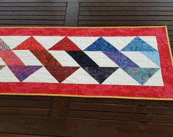 Quilted Batik Table Runner