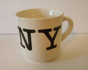 I Love New York coffee mug, I love New York, New York coffee cup, Vintage New York mug