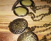 Bronze Oxide Solid Perfume Locket