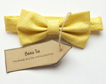 boys bow tie, baby bow tie, yellow boys bow tie, children's bow tie, page boy, baby shower gift