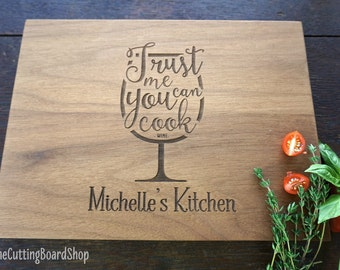 Funny Wine Lovers Cutting board Birthday Gift for wine enthusiast, Holiday or Bridal Party Hostess Gift Idea Wine Connoisseur Present