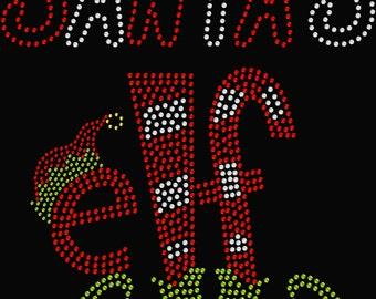 Santa's Elf Christmas Rhinestone Transfer