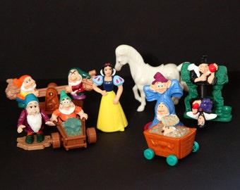 Vintage 90s SNOW WHITE toys set mcdonalds lot