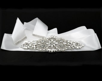 Bridal Belt Rhinestone Sash Crystal Wedding Dress Accessories Crystal Ribbon FREE POSTAGE Australia Wide
