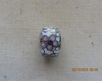 Vintage Cloisonne Beads barrel shape 10 beads