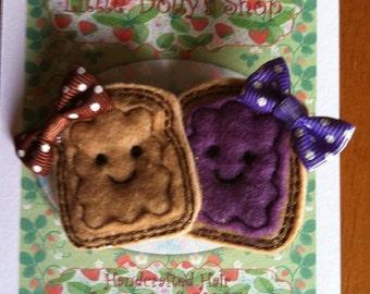 Peanut Butter & Jelly PBJ Clippie