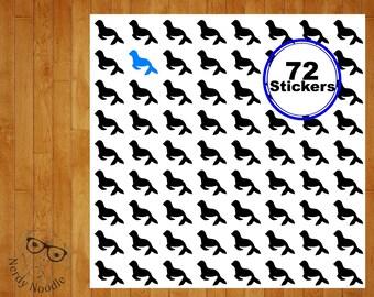 Seal Planner Stickers, 72, Seal Stickers, Seal Sticker Set, Seal Envelope Seals, Seal Sticker, Seals, Zoo Stickers, Scrapbooking Stickers