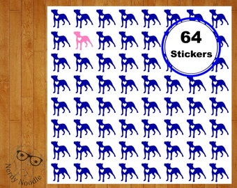 Pitbull Planner Stickers, Pitbull Stickers, 64 Pitbull Stickers, Pitbull Sticker Set, Pitbull Envelope Seals, Dog Stickers, Pitbull, Pit