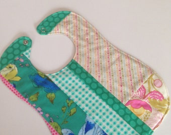 Baby bib girl cute patchwork bibs