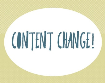 ADD ON: CONTENT Change