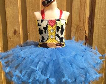 Woody costume/ woody tutu dress/ toy story tutu dress/ buzz lightyear tutu/ Jessie tutu/ Jessie costume/ cowboy costume/ cowboy hat
