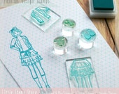 Fashion Stamps - Fashion House - London Fashion - Design - Design Your Own - Customisable - Stamp Set by Little Stamp Store