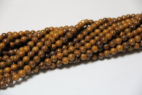 """Oak Jasper 8mm smooth round beads 16"""" length full strand"""
