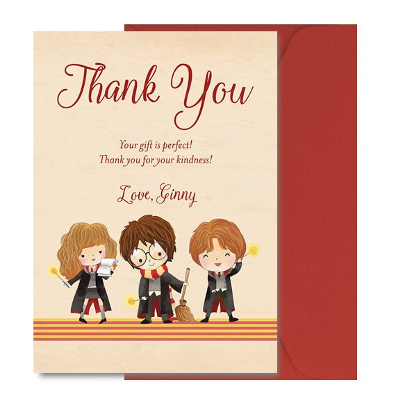harry potter baby shower thank you notes harry potter baby shower