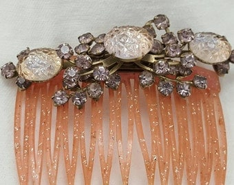 Vintage Jeweled Hair Comb