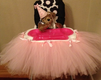Baby High Chair Tutu Only, Shabby Chic,  tutu, Baby party, Photo Prop, pink decorations