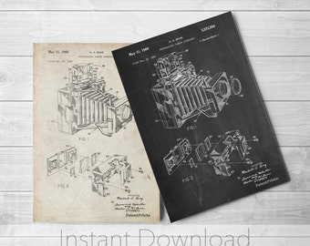 1966 Camera Accessory Printables, Photographic Camera Accessory Patent, Photography, Camera Patent, PP0034