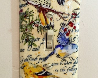 Realistic Bird Decorative Light Switch Plates