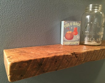 FLOATING BARNWOOD SHELF