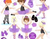 80%OFF Ballerina clipart, Ballet clipart, Purple ballerina, Girls Dancing, Ballet Class, Ballerinas clipart, commercial use, AMB-1327