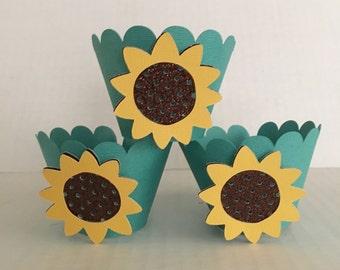 Sunflower/ Frozen Fever cupcake sleeve