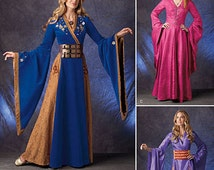 Simplicity 1009 Lord of the Rings, Maid Marian, Ren Faire Costume Dress, elegant european maiden from high medieval ages
