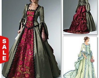 McCalls 6097 Costume pattern, Womens Victorian Bustle Gown,