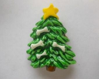 Dog Bones on Christmas Tree Refrigerator Magnet Collectible #1400