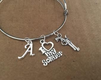 I love my solider charm bracelet