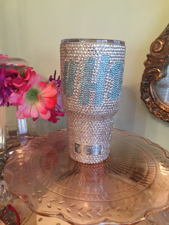 Yeti Rambler 30oz with Full Rhinestone and Monogram