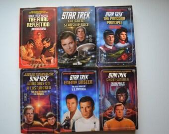 Six Vintage 1980's & 1990's Star Trek Novels